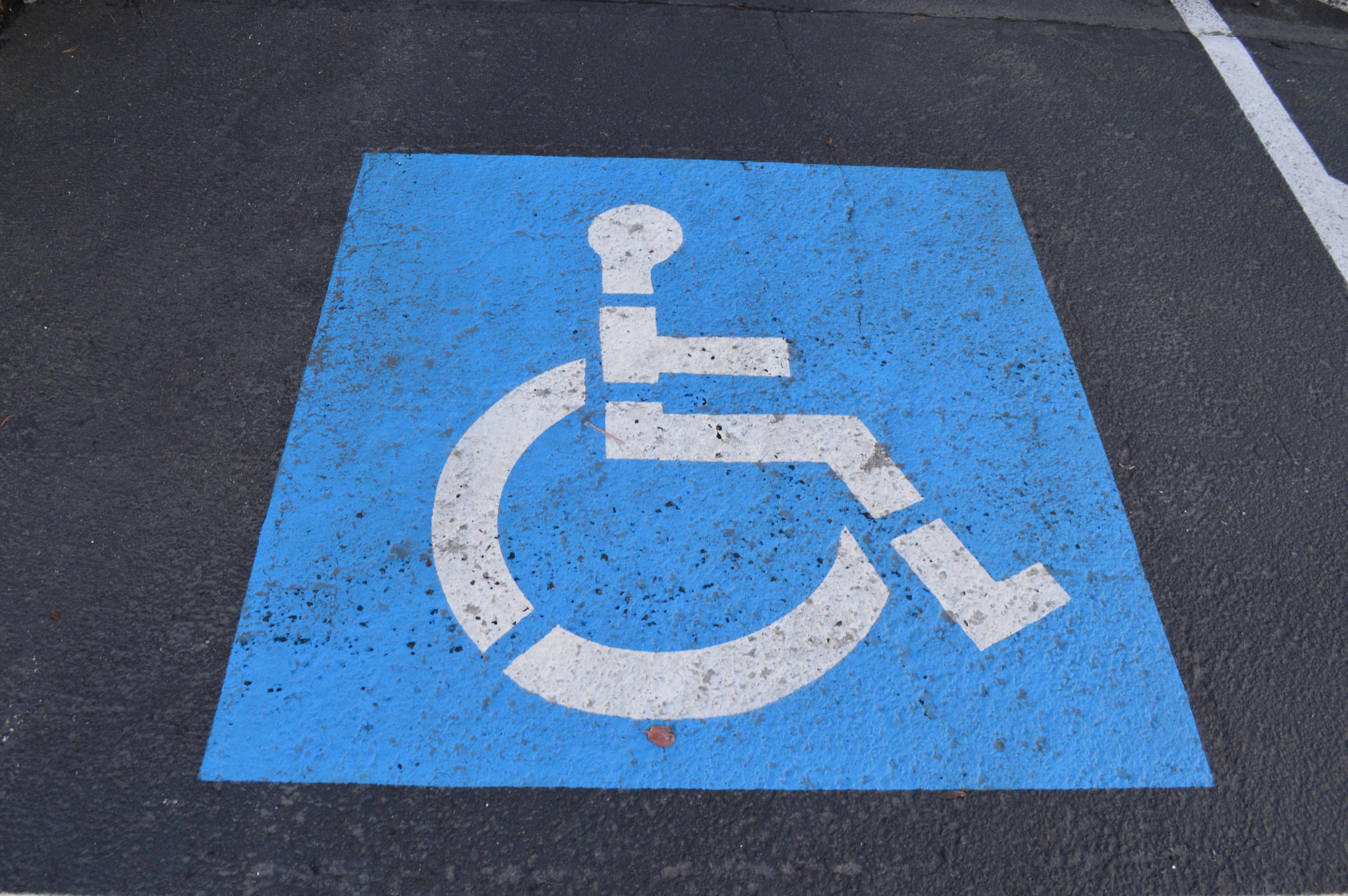 handicap parking space